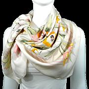 Authentic Vintage Hermes Silk Scarf La France Hippique 1854 RARE