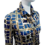Vintage Hermes Jersey Sikiang Scarf Blouse Camails Exclusif Label