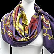 Authentic Vintage Hermes Silk Scarf Bride de Cour in a Fabulous Colorway