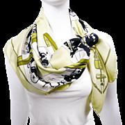 Authentic Vintage Hermes Silk Scarf Paris Qui Roule - Provenance RARE Grygkar