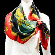 Authentic Vintage Hermes Silk Scarf La Reale - Vue Du Carrosse de la Galère w/BOX