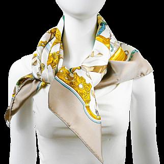 Authentic Vintage Hermes Silk Scarf Copeaux UNWORN w/Box