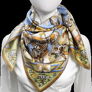 Authentic Hermes Silk Scarf Kachinas Kermit Oliver RARE - UNWORN w/Box