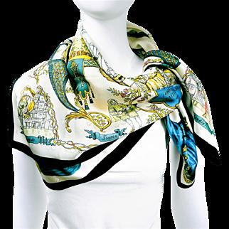 Authentic Hermes Jacquard Silk Scarf La Comédie Italienne Collector Scarf RARE