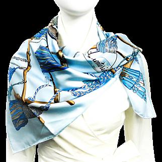 Authentic Hermes Silk Scarf Passementerie Light Blue UNWORN w/Box