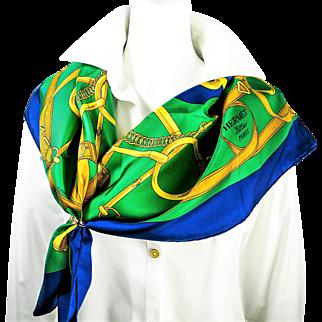 Authentic Vintage Hermes Silk Scarf Eperon d'Or by Henri d'Origny NIB