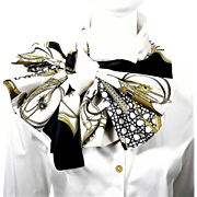 Authentic Reversible Hermes Silk Shawl Opera Scarf Les Voitures a Transformation - Rare