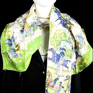 Hermes Silk Scarf Les Amazones UNWORN Vintage w/Original Packaging NIB