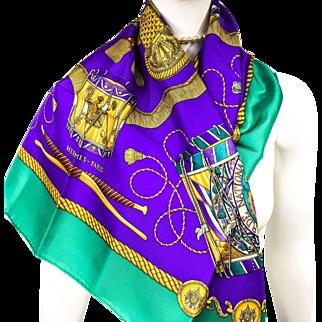 Authentic Vintage Hermes Silk Scarf Les Tambours NIB - Unworn