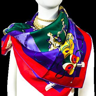 Authentic VTG Hermes Le Carnaval De Venise Silk Jacquard NIB