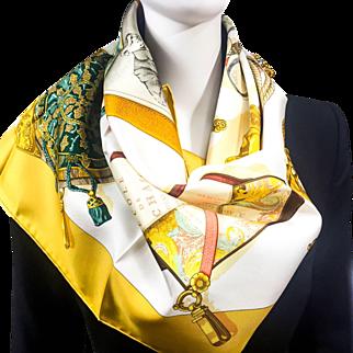 Vintage Hermes Silk Scarf Memoire d'Hermes NIB UNWORN