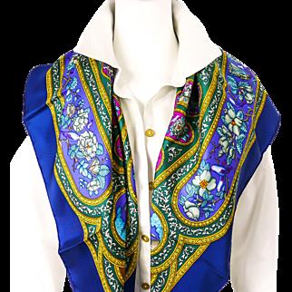 Vintage Hermes Silk Scarf Qalamdan UNWORN