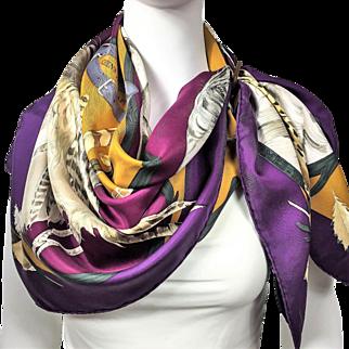 Vintage Hermes Silk Scarf Chiens au Rapport
