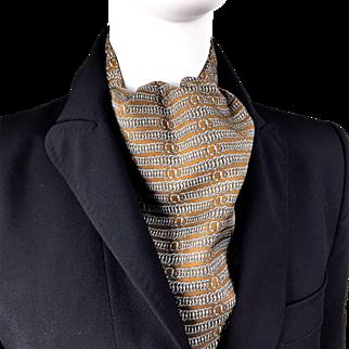 Authentic Vintage Hermes Silk Ascot Classic Pattern