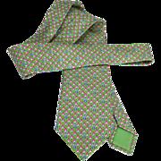 Authentic Vintage Hermes Silk Tie 5197 IA Bunnies