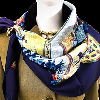 Vintage Hermes Silk Scarf Cavaliers Peuls NIB