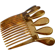 Late Victorian Antique Celluloid Back Comb