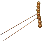 Victorian 10K Gold Josephine Comb With Coronet of Balls