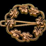 Dainty 1950s Leafy Wreath Hair Clip/Barrette