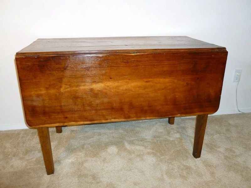 Vintage Drop Leaf Table 1930 S Cherry Wood From