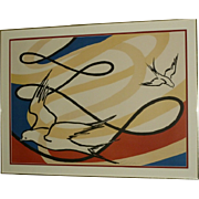 "A. Calder Signed Lithograph ""Birds In Flight"""