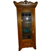 Oak Armoire/Curio Cabinet Antique