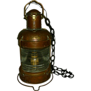 Antique Nautical Anchor Light 360 degree Copper and Brass