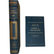 South Pacific, Tales of, by James Michener Franklin Library Leather Bound