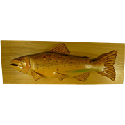 Carved Wood Fish Hand Crafted Sculpture