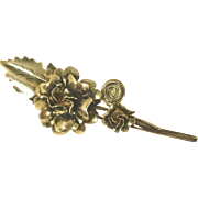 Silver-tone Flower Scarf Pin/Brooch