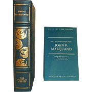 John Marquand, Mr. Moto's Three Aces, Franklin Library Leather Bound