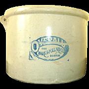 Park & Pollard Co. Overall Feed Crock Vintage
