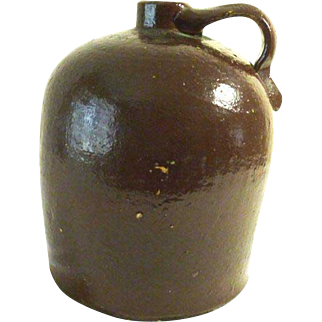 Stoneware Crock Jug Bee Hive Style