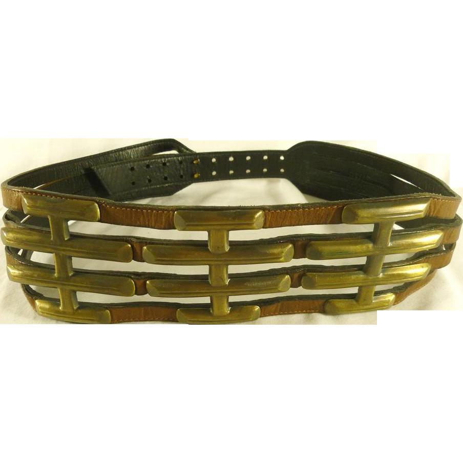 Vintage Brass Belt 72