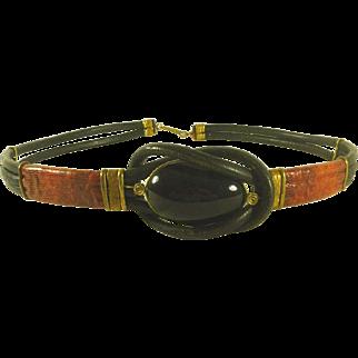 Vintage Ladies Leather Belt