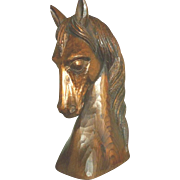 Vintage Carved Wood Horse Head
