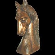 Vintage Carved Wood Horse Head