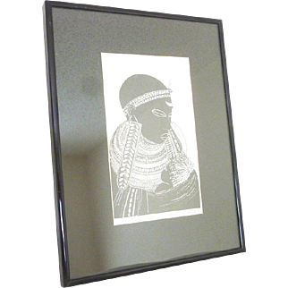"Heidi Lange Screen Print ""Masai Mother"""