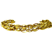 Fancy Braided 14 kt. Gold Bracelet