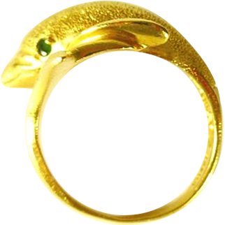 14 kt Gold Dolphin Ring