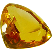 32 ct Pure Citrine Quartz Stone Unset