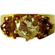 Rubies and Diamonds 14 kt Gold ring