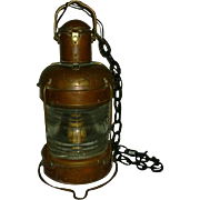 Antique Nautical Anchor Light 360 degrees  Copper and Brass