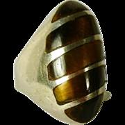 Tiger Eye Ring Sterling