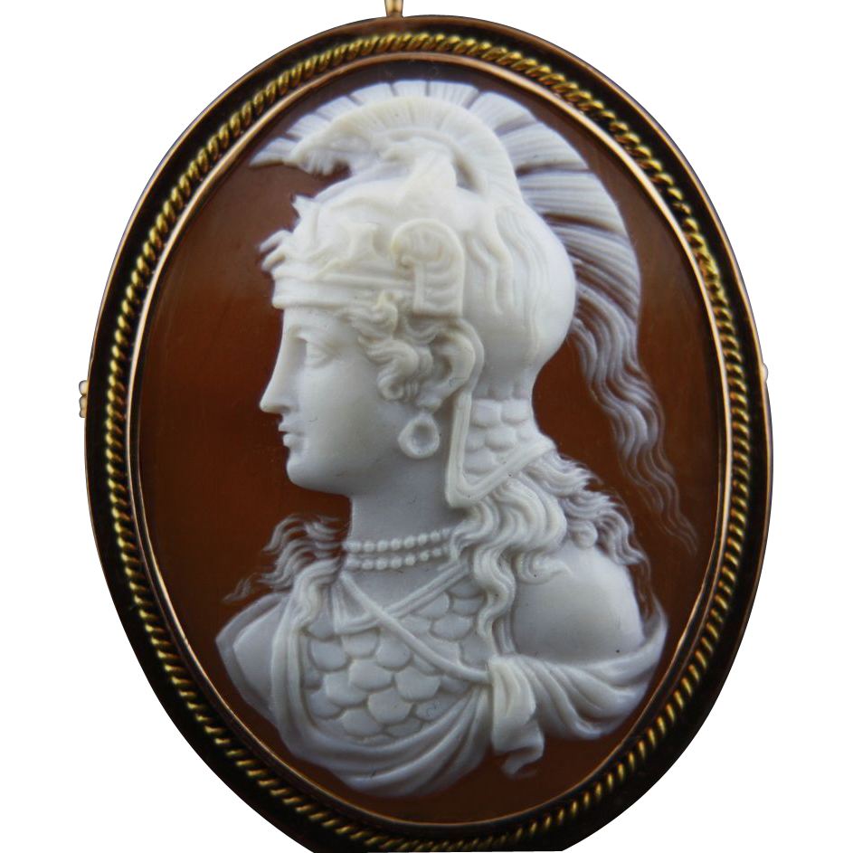 14k Gold Cameo of Athena (Minerva) SOLD on Ruby Lane