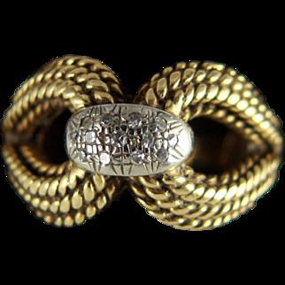 18K Gold Diamond Dress Ring