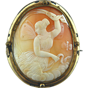 Large Victorian Shell Cameo of Psyche