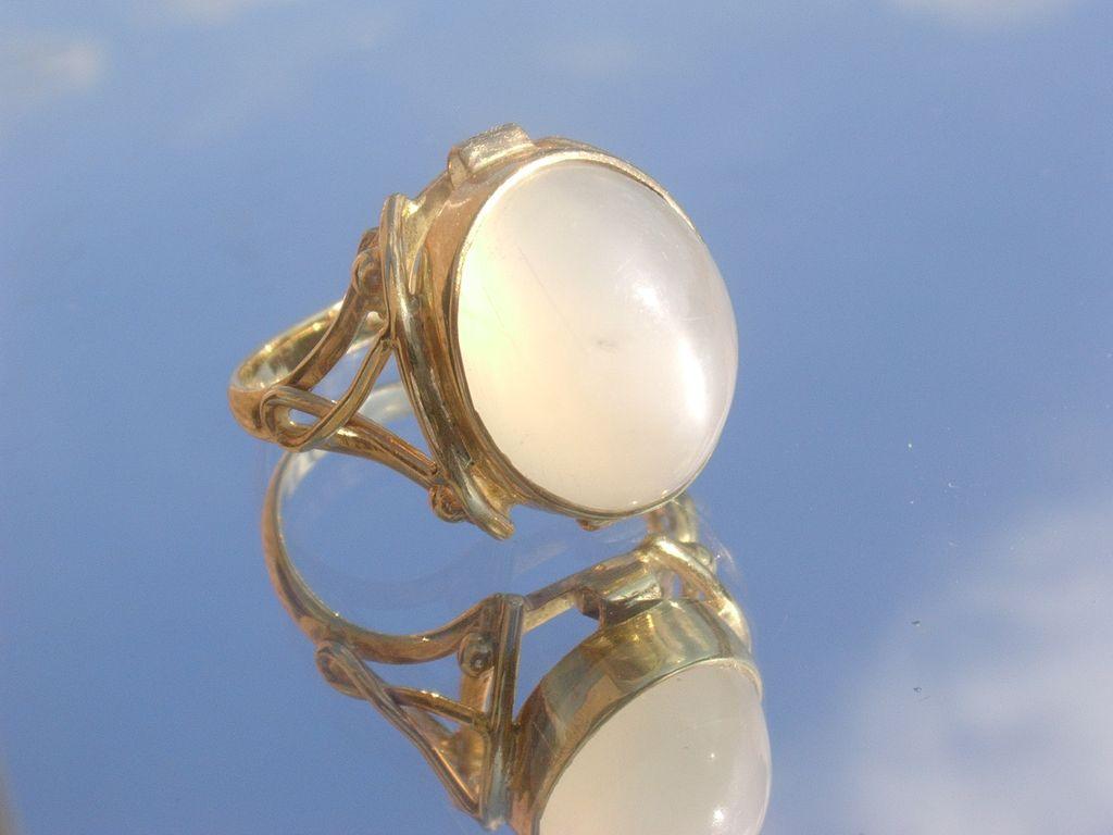 9kt Grey/Golden Moonstone Ladies Ring