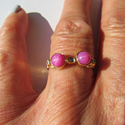 14kt Yellow Gold Lindy Star Ruby and Diamond Ladies Ring