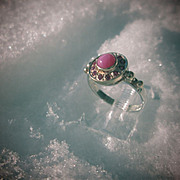 Sterling Silver/9kt Yellow Gold Lindy Star Ruby and Multi Ruby Ladies Ring